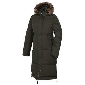 Husky  Downbag L XL, tm. khaki Dámský péřový kabát