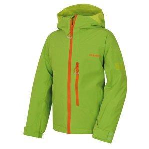 Husky  Gomez Kids 140, zelená Dětská ski bunda