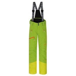 Husky  Gilep Kids 152, zelená Dětské lyžařské kalhoty