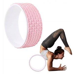 Kruh na jógu Springos růžovo-bílý