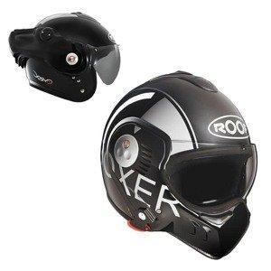 Moto přilba ROOF Boxer V8 Grafic Barva černo-šedá, Velikost S (55-56)