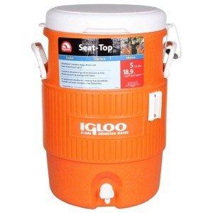 termobox na nápoje IGLOO barva: oranžová;objem: 18 l