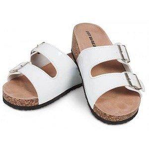 Dámské korkové pantofle bílé