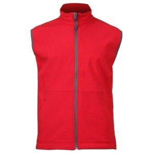 Vision pánská softshellová vesta barva: červená;velikost oblečení: L