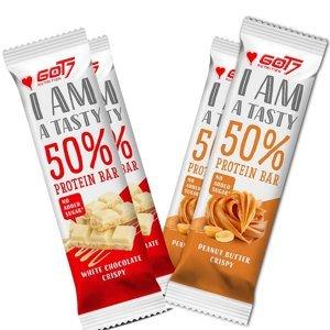 GOT7 50% Protein bar Hmotnost: 60g, Příchutě: Bílá čokoláda s křupinkama