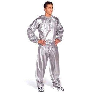 Sauna oblek EVERLAST PVC stříbrný - vel. M-L