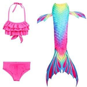 Kostým a plavky mořská panna MASTER Marína - 130 cm