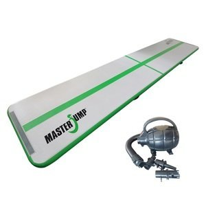 Airtrack MASTERJUMP nafukovací žíněnka 500 x 100 x 10 cm - šedá - zelená