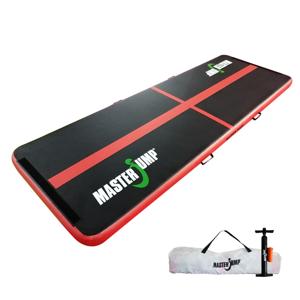 Airtrack MASTERJUMP nafukovací žíněnka 300 x 100 x 10 cm - černá - červená - 2. jakost
