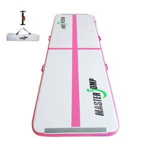 Airtrack MASTERJUMP nafukovací žíněnka 400 x 100 x 10 cm - růžová - 2. jakost
