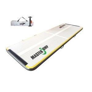 Airtrack MASTERJUMP S-Pro nafukovací žíněnka 300 x 100 x 10 cm - šedá - černá - 2. jakost