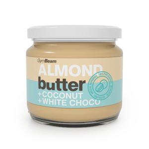 Mandlové máslo s kokosem a bílou čokoládou 340 g kokos bílá čokoláda - GymBeam