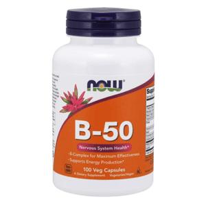 Vitamín B-50 100 kaps. - NOW Foods