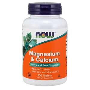 Magnézium & Vápník Reverse 2:1 100 tab. - NOW Foods