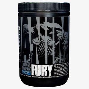 Předtréninkový stimulant Animal Fury 490 g modrá malina - Universal Nutrition