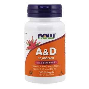 Vitamín A & D 100 kaps. - NOW Foods