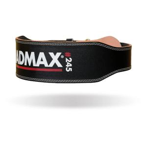 Fitness opasek Full Leather Black XL - MADMAX