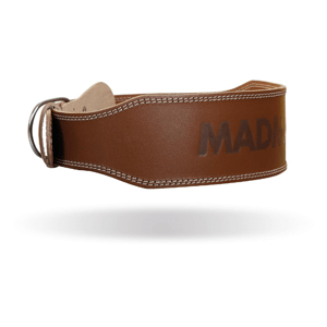 Fitness opasek Full Leather Chocolate Brown XXL - MADMAX