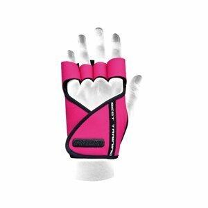 Dámské fitness rukavice Lady Motivation Pink L - CHIBA