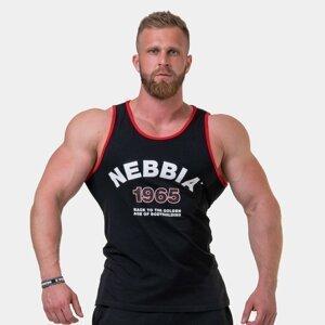 Pánské tílko Old school muscle Black L - NEBBIA