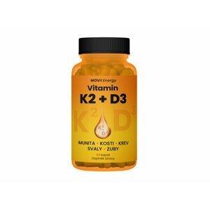 Movit Vitamin K2 120 μg + D3 1000 I.u. 25 μg, 60 Cps. D, K