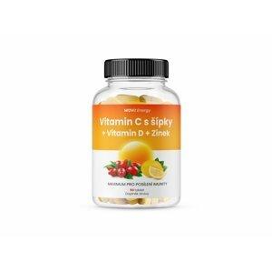 Movit Vitamin C 1200 Mg S šípky + D Zinek Premium, 90 Tbl. C, D,