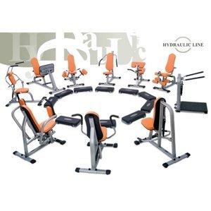 Set 10 Strojů Kruhový Trénink Hydraulicline - Oranžová