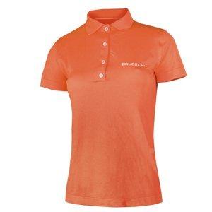 Dámské Thermo Tričko Brubeck Prestige S Límečkem  Oranžová  M