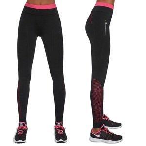 Dámské sportovní legíny BAS BLACK Inspire  černo-růžová  L