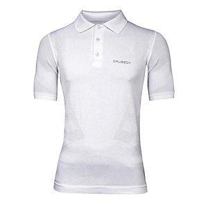 Pánské Thermo Polo Tričko Brubeck Prestige S Límečkem  Bílá  M