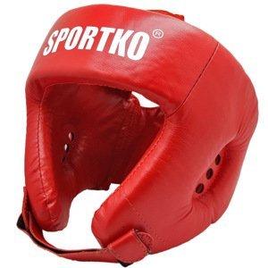 Boxerský Chránič Hlavy Sportko Ok2  Červená  Xl