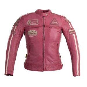 Dámská Kožená Moto Bunda W-Tec Sheawen Lady Pink  Růžová  3Xl