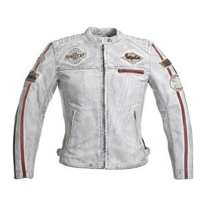 Dámská Kožená Moto Bunda W-Tec Sheawen Lady White  Bílá  Xl