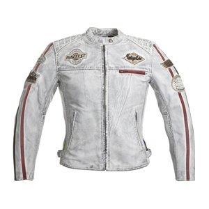 Dámská Kožená Moto Bunda W-Tec Sheawen Lady White  Bílá  3Xl