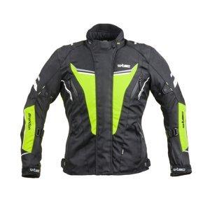 Dámská Moto Bunda W-Tec Brandon Lady  Černá-Fluo Žlutá  3Xl