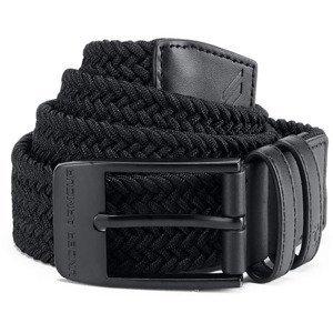 Pánský Opasek Under Armour Men's Braided 2.0 Belt  Black/black  30