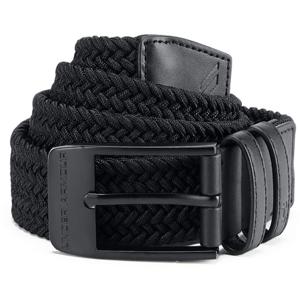 Pánský Opasek Under Armour Men's Braided 2.0 Belt  36  Black/black