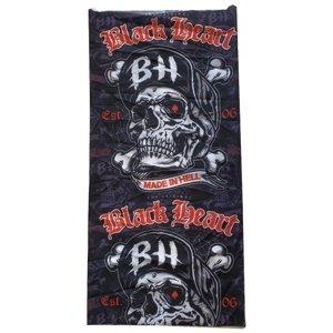 Nákrčník Black Heart Bones  Černo-Červená