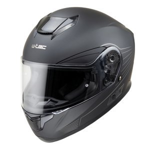 Moto přilba W-TEC Yorkroad Solid  Black Grey Matt  XL (61-62)