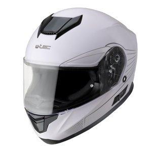 Moto přilba W-TEC Yorkroad Solid  White Grey Glossy  XL (61-62)