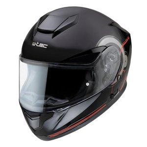 Moto přilba W-TEC Yorkroad Fusion  Black Grey Red Glossy