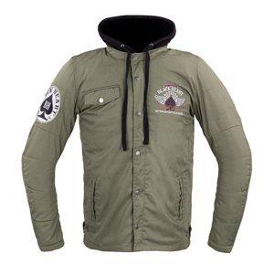 Pánská bunda W-TEC Black Heart Hat Skull Jacket s aramidem  khaki