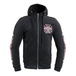 Pánská mikina W-TEC Black Heart Vintage Iron Hoodie  černá  XXL