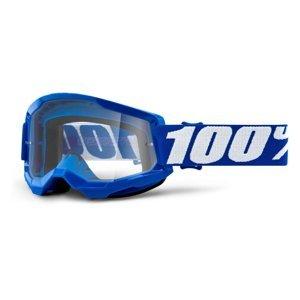 Motokrosové Brýle 100% Strata 2  Modrá, Čiré Plexi