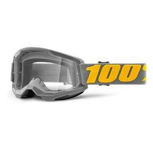 Motokrosové Brýle 100% Strata 2  Izipizi Šedo-Žlutá, Čiré Plexi