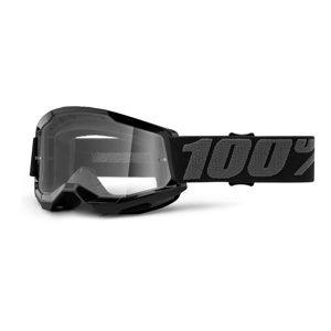 Dětské Motokrosové Brýle 100% Strata 2 Youth  Černá, Čiré Plexi