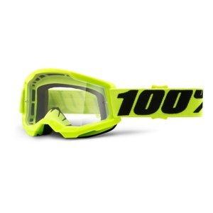 Dětské Motokrosové Brýle 100% Strata 2 Youth  Žlutá, Čiré Plexi