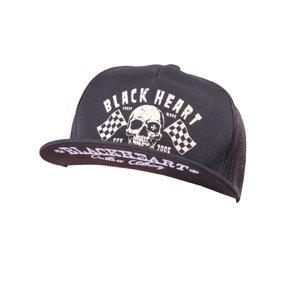 Kšiltovka BLACK HEART Flag Trucker  černá