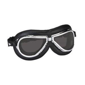 Vintage Moto Brýle Climax 500, Kouřová Skla