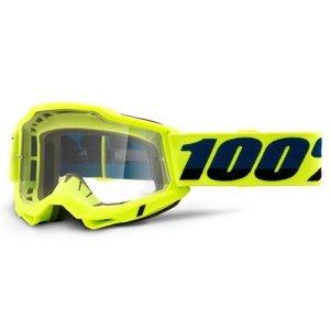 Motokrosové Brýle 100% Accuri 2  Žlutá, Čiré Plexi